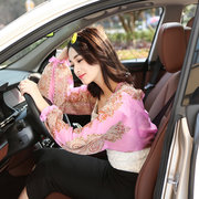 Womens UV Protection Lengthen Arm Sleeves Outdoor Driving Sunscreen Long Gloves Cuff