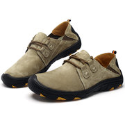 Large Size Men Anti-collision Leather Non-slip Outdoor Casual Hiking Shoes