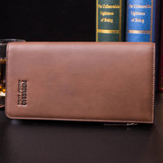Men PU Long Wallet Large Capacity Casual Clutch Bags 11 Card Slot Card Holder