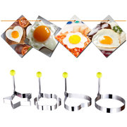 Kitchen Stainless Steel Cute Shaped Fried Egg Mold Pancake Rings Mold