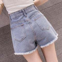 Denim Skirt Women's  Loose Students High Waist Button Hot Pants