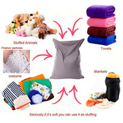 110x140cm Latest Solid Color Cotton Soft Bean Bags Sofa Lounger Cover Washable Without Filler