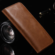 Women Men Genuine Leather 5.5'' Iphone 7 Plus Business Phone Case Card Wallet