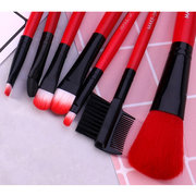 Hot Red Trucco Pennello Set 7Pcs Face Eye Trucco Pennello Kit Soft Capelli Multifunzionale Cosmetic Pennello