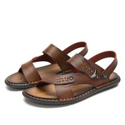 Men Opened Toe Microfiber Leather Comfy Water Beach Sandals