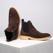Men Stylish Suede Elastic Slip On Casual Ankle Chelsea Boots