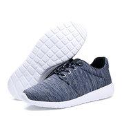 Большой размер ткани дышащий зашнуровать На открытом воздухе повседневная спортивная обувь для мужчин