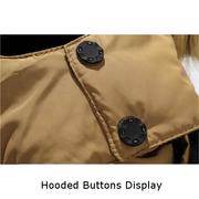 Chaqueta casual cálida con capucha peluda de talla grande de invierno outdoor para hombres