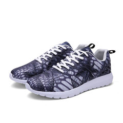 Men And Women Lovers Shoes Fashionable Camouflage Casual Sport Shoes Lace Up Running Shoes