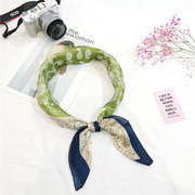 Womens Silk Vogue Comfortable Headwear Travel Home Casual Headband Square Scarf