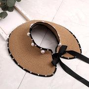 Straw Sombrero Season Pearl Empty Top Sombrero Straw No Top Big Sombrero Wild Sun Visor Playa Sun Sombrero