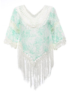 Tassel Hem Hollow Out Sexy Cozy Cover Ups Beach Wear