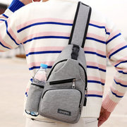 Large Capacity Casual Outdoor Travel USB Charging Port Sling Bag Chest Bag Crossbody Bag