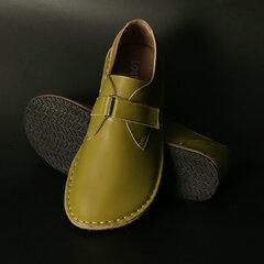 Übergrößen Damen Retro Round Toe Buckle Soft Flache Schuhe