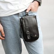 Pu Leather Waist Сумка Телефон двойного назначения Сумка Слинг для бизнеса Сумка Crossbody Сумка Для мужчин