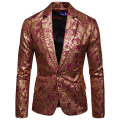 Mens Design Print Design Jackets Casual Slim Fit Suit Blazer