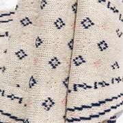 Женское Зимний теплый шерстяной вязаный ромбовидный полосатый цветочный дикий декоративный шарф
