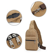 Charge Canvas Chest Bag Korean Version Sports Shoulder Bag Leisure Messenger Bag For Men