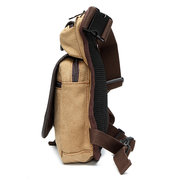 Climbing Drop Waist Bag Sport Casual Canvas Travel Bag Zipper Leg Bag For Men