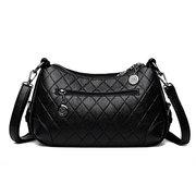 Women Double Layer Faux Leather Multi-function Shoulder Bag