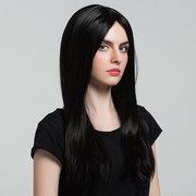 62cm Preto Long Straight Hair Peruca Sintética Mulheres Moda Estilo
