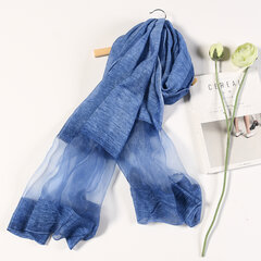 190cm*90cm Oversize Artificial Silk Scarf Summer Thin Beach Shawl Casual Travel Sun Scarf