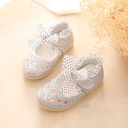 Girls Shining Paillettes Gancio Loop Lace Decor Lovely Mary Jane Shoes