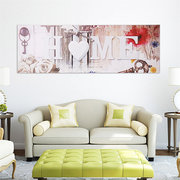 Love HOME Canvas Painting Wall Art Bedroom Living Room Home Decor Unframed