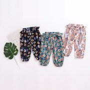 Lantern Style Toddler Girls Floral Pants Kids Trousers Children Clothing For 1-7Y