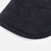 Men Vintage Washed Cotton Flat Top Cap Casual Breathable Adjustable Airhole Stitching Hat
