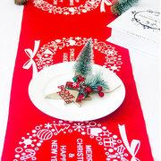 عيد الميلاد الكتان مفرش المائدة عيد العلم حزب ديكور المنزل إلك نسيج نسيج الجدول الأحمر تغطية