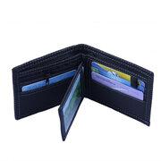6 Kartenhalter Vintage Nähen Denim Münztüte Lässige Geldbörse für Männer