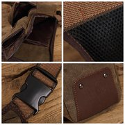 Men Vintage Canvas Outdoor Phone Bag Waist Bag Leg Bag Crossbody Bag