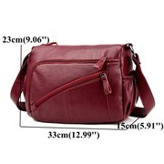 Women Elegant Multi-pockets Shoulder Bags Daily Crossbody Bag