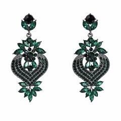 Böhmischen Diamant Edelstein Ohr Tropfen Elegante Rote Retro Ohrringe Strass Ohrringe Für Damen