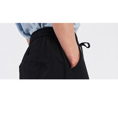 Mens Summer Breathable Cotton Linen Solid Color Knee Length Drawstring Casual Shorts