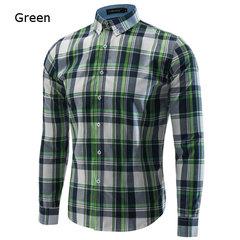 Casual Fashion Sottile Camicie eleganti a maniche lunghe in stile scozzese