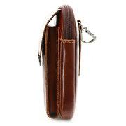 Genuine Leather Phone Bag  Leisure Vintage Multi-functional Waist Bag Crossbody Bag For Men