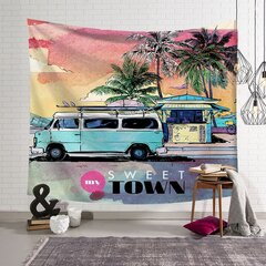 Beach Scenic Seaside Yoga Mat Letter Summer Relax Wall Hanging Tapestry