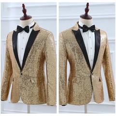 Blazer de solapa para hombre Vestido Suit Palace Boda Club Club de solapa