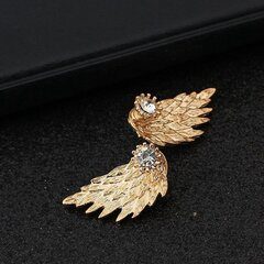 Vintage Ear Stud Pendientes Angel Wings Feather Rhinestone Piercing Earrings Cute Jewelry for Women