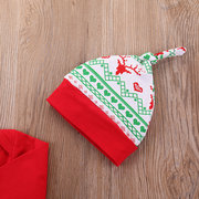 3Pcs Natale Stampa ragazze Tops + Pants + Hat Set Per 0-36M