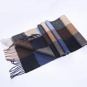 Sciarpe invernali da uomo in lana morbida calda con scialle in nappa classica sciarpa scozzese per uomo