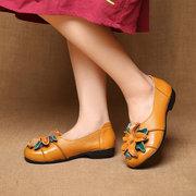 SOCOFY Мягкие плоские туфли из натуральной кожи