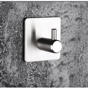 Adhesive Stainless Steel Hooks Wall Door Clothes Coat Hat Hanger Kitchen Bathroom Rustpro