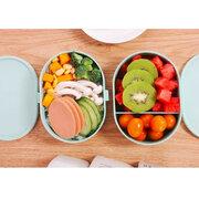 950 мл Здоровая коробка для обеда с суп-бутылкой 3 слоя Микроволновая печь Студенческие коробки Bento