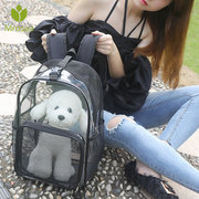 Breathable Mesh Pet Travel Backpack Carrier Dog Cat Transparent Shoulder Bag