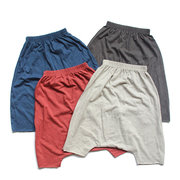 Harem Style Toddlers Boys Cotton Pants Kids Casual Summer Shorts Trousers For 2Y-11Y