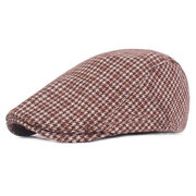 Mens Womens Thickening Adjustable Felt Solid Warm Breathable Lightweight Vintage Beret Cap