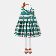 Вишня Шаблон малышей девочек дети без рукавов спинки принцессы Платье для 2Y-9Y